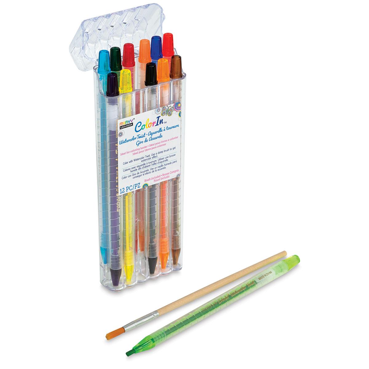 Marvy Uchida Color In Watercolor Pencils 24 Pc Set