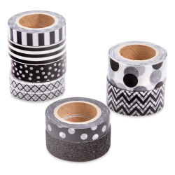 Darice Washi Tape - Black, Set of 8