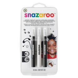 Snazaroo Face Paint Brush Pen Set - Monochrome, Set of 3