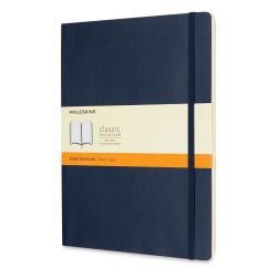 "Moleskine Classic Soft Cover Notebook - Sapphire Blue, Ruled, 9-3/4"" x 7-1/2"""