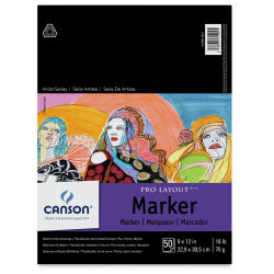 Canson Pro-Layout Marker Paper - 9'' x 12'', 50 Sheets