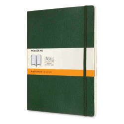 "Moleskine Classic Soft Cover Notebook - Metallic Green, Ruled, 9-3/4"" x 7-1/2"""