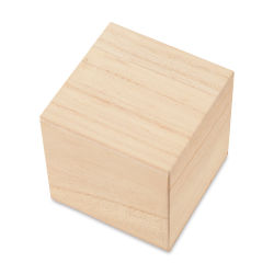 Darice Unfinished Wood Blocks and Cubes - Cube, 3.54''
