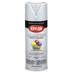 Krylon Colormaxx Spray Paint - Pewter Gray, Gloss, 12 oz
