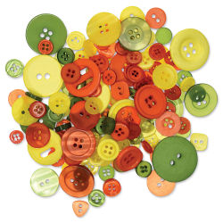 Forever in Time Fashion Dyed Buttons - Tropical, 2 oz