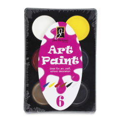 Richeson Art Paint Sets - Set of 6, Assorted Colors, .4 oz