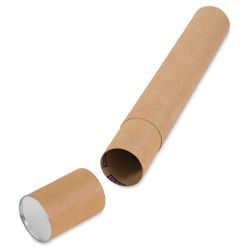 "Uline Kraft Telescopic Mailing Tube - 4"" x 30"" (with cap off)"
