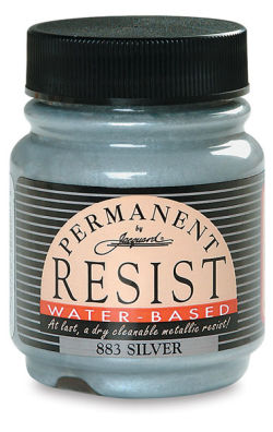 Jacquard Waterbased Resist - Silver, 2.25 oz jar