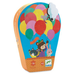 Djeco Mini Silhouette Puzzles- Hot Air Balloon box