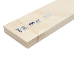 "Bud Nosen Basswood Sheets - 1/4"" x 6"" x 24"", 5 Sheets"