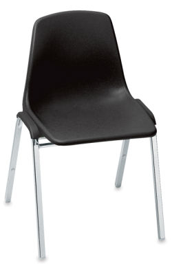 Polyshell Stacking Chair, Black