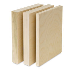 American Easel Wood Flat Panel Pack - 9'' x 12'', Flat Panel with Two 2'' Cradle, Pkg of 3