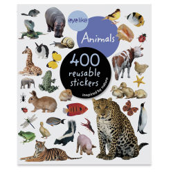 Eyelike Animal Reusable Stickers, Book Cover