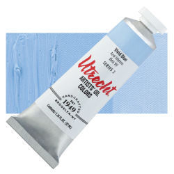 Utrecht Artists' Oil Paint - Vivid Blue, 37 ml, Tube with Swatch
