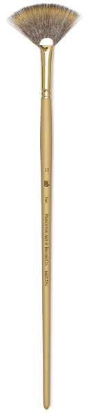Princeton Synthetic Mongoose Brush - Fan, Long Handle, Size 12