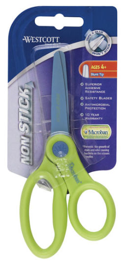 Westcott Kids Non-Stick Scissors with Microban Protection