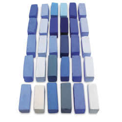 Terry Ludwig Soft Pastels - Best of the Blues, Set of 30