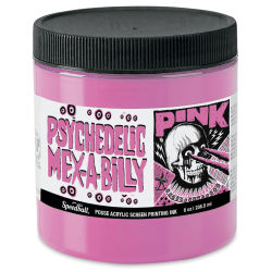 Speedball Posse Screen Printing Ink - Psychedelic Mex-A-Billy Pink, 8 oz, Jar