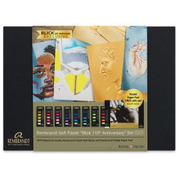 Rembrandt Soft Pastels - 8 Half-Stick 5-Pack Sets with FREE Pastel Pad (front of package)