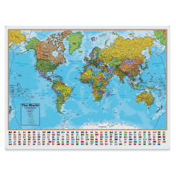Waypoint Geographic Blue Ocean Series Wall Map - World