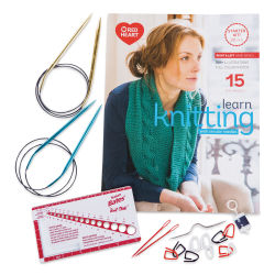 Red Heart Learn to Knit with Circular Needles Kit, Contents