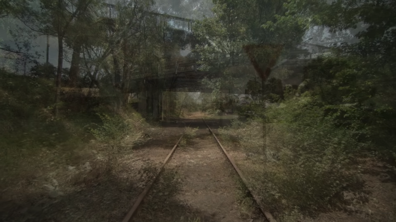 YouTube screenshot showing abondend rails