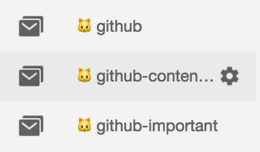 Automatic GitHub folder in Google Inbox