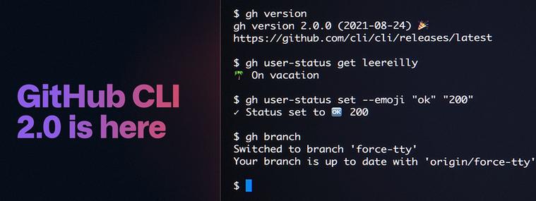 GitHub CLI 2.0 is here