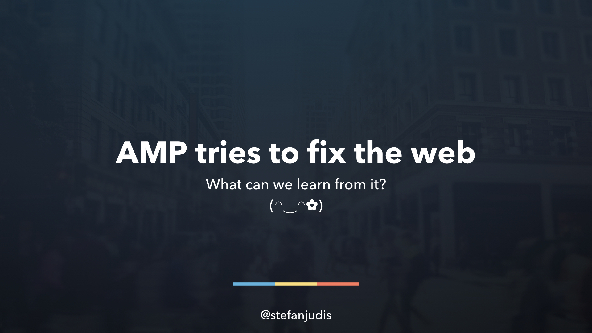 AMP tries to fix the web - what can we learn from it