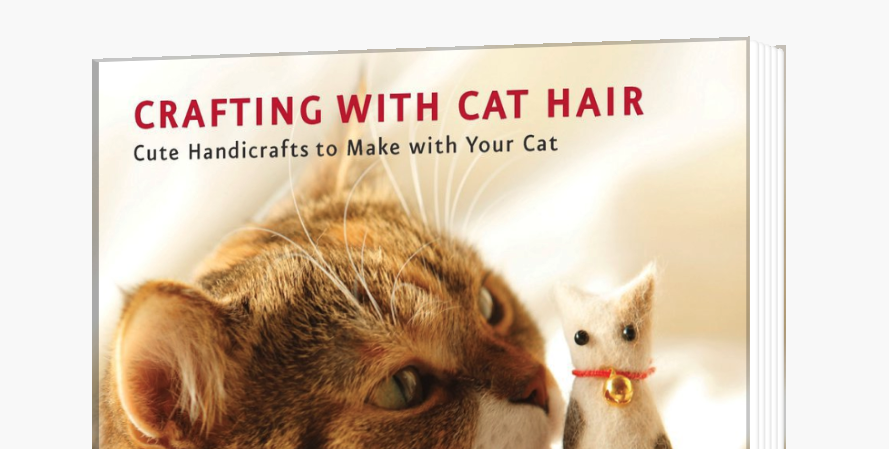 Book cover: Crafting with cat hair