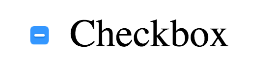Checkbox in indeterminate state including a dash instead of being empty or including a checkmark