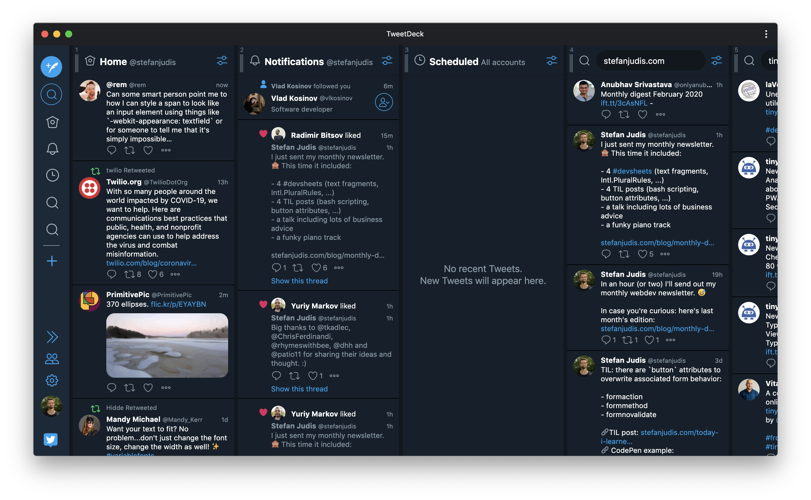Tweetdeck PWA