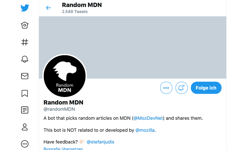 Screenshot of twitter.com/randommdn
