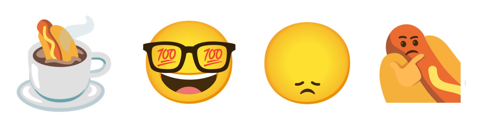 Weird emoji stickers