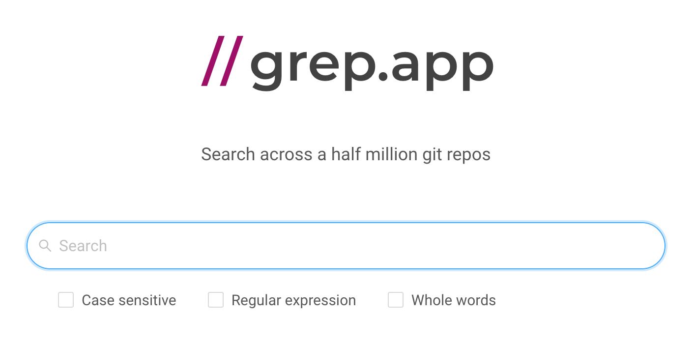 grep.app screenshot