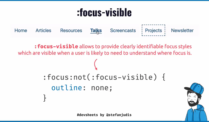 Explainer video of focus-visible