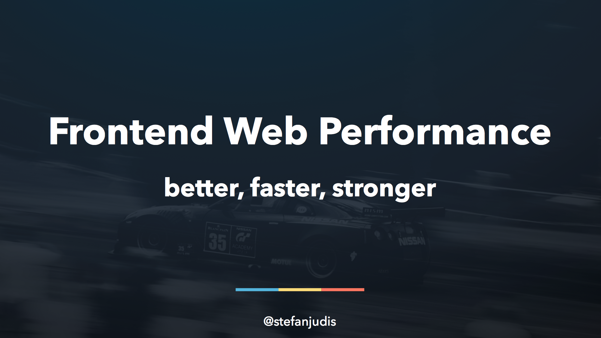 "Cover of the Talk ""Frontend Web Performance"