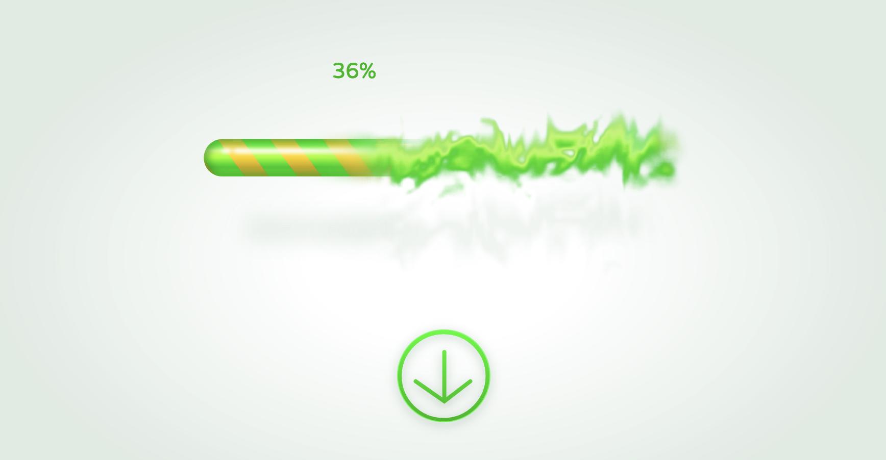 A fancy twirled progress bar