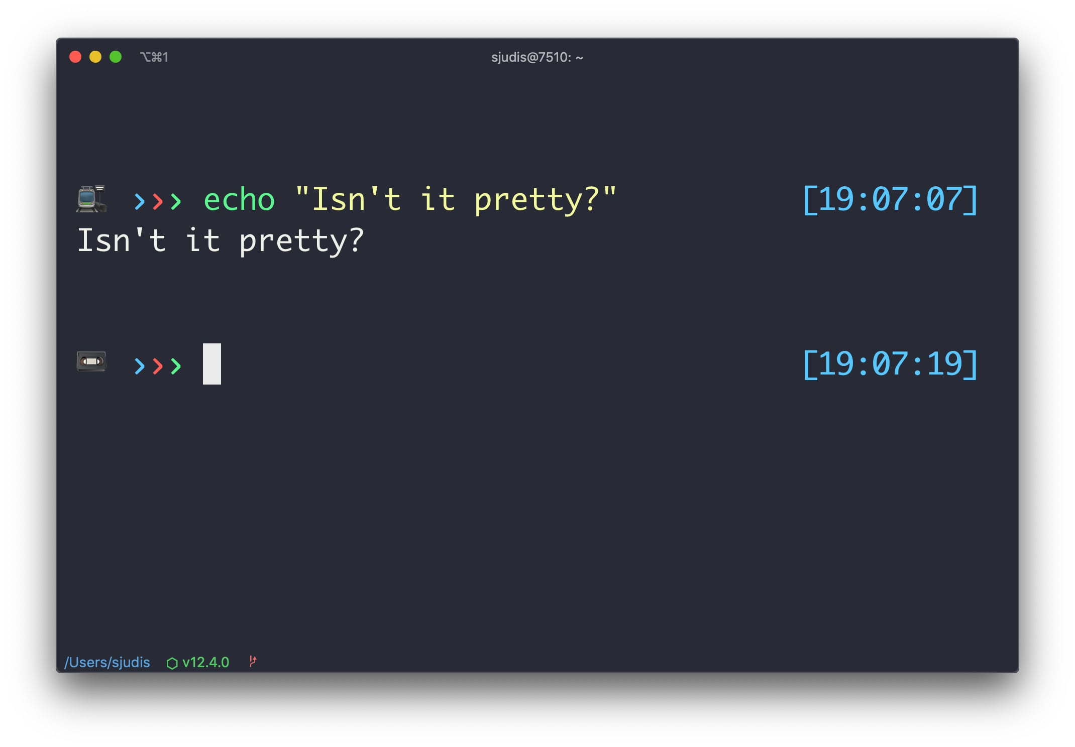 iterm2 running in reduced mode including the new status bar