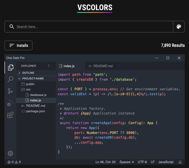 VSColors screenshot