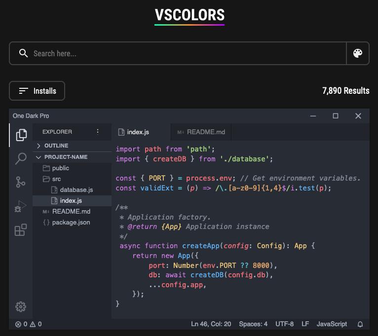 VSColors screenshot