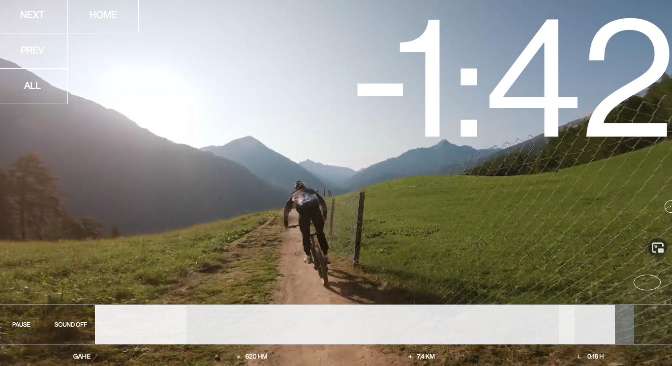 takearidewith.me – Video of a mountain biker in front of beautiful mountains