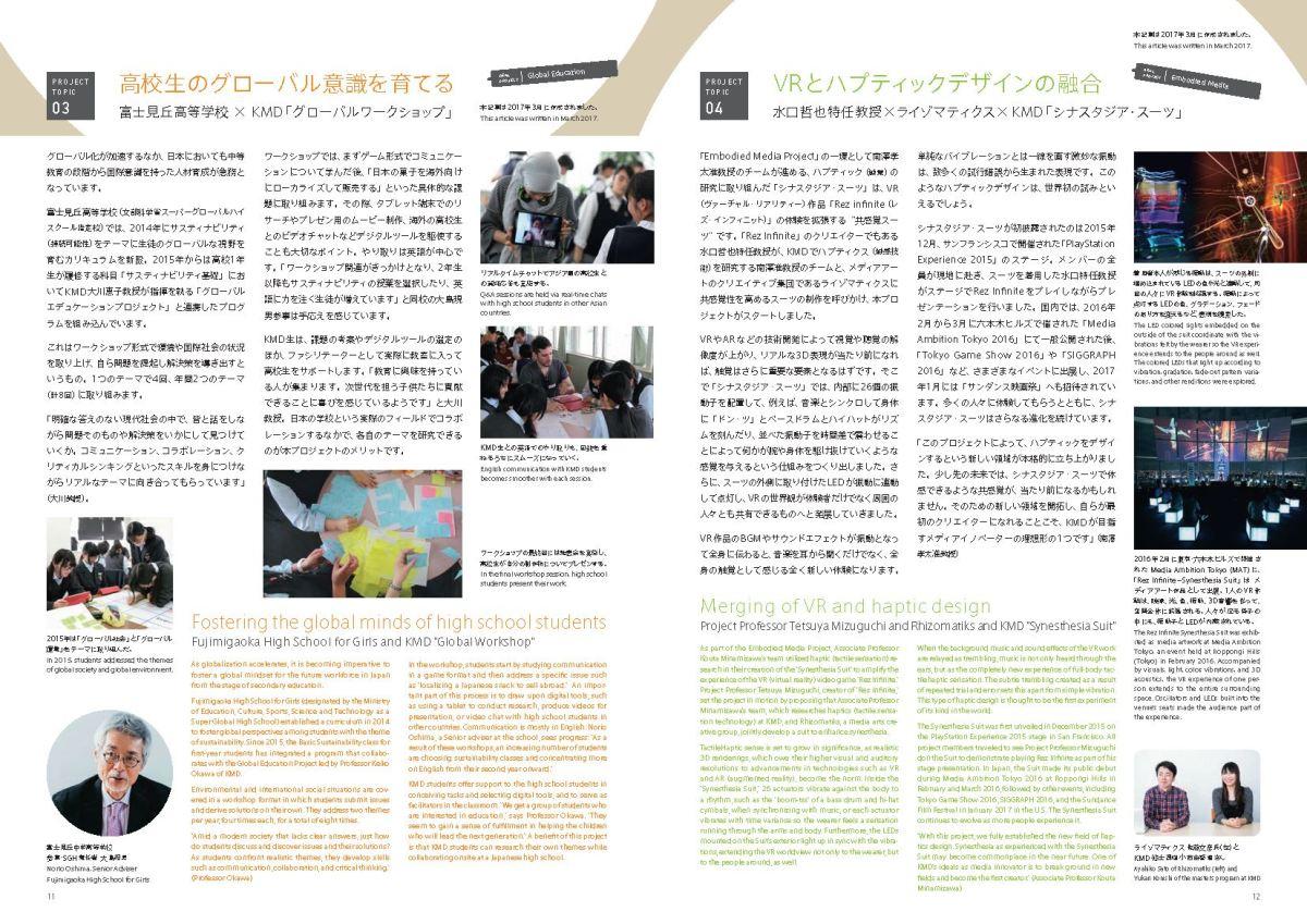 KMDパンフレット2018 インタビュー | 佐藤文彦