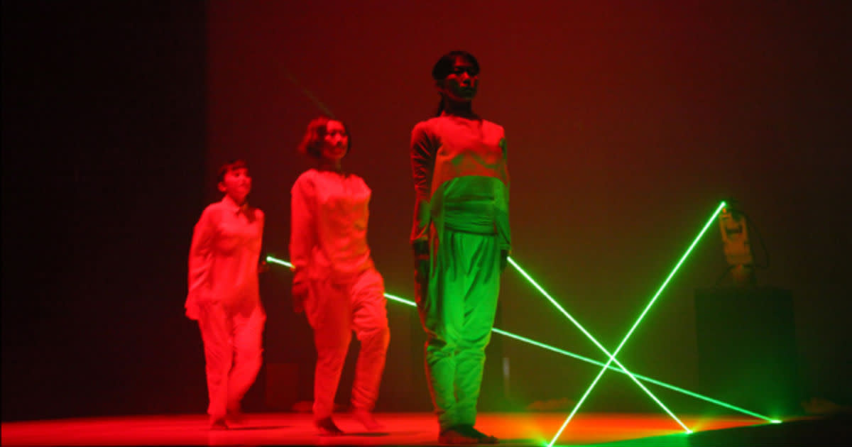 Elevenplay x Rhizomatiks Research - Robot x Dancers x Lasers
