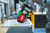 TRI has developed unique custom gripper fingers to help robots perform household tasks, such as picking up plates, silverware, and mugs, and loading them into a dishwasher.