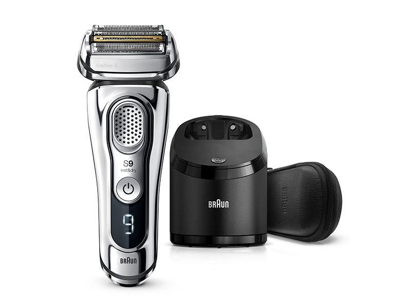 Series 9 9395cc Wet & Dry shaver with Clean & Charge station and leather travel case