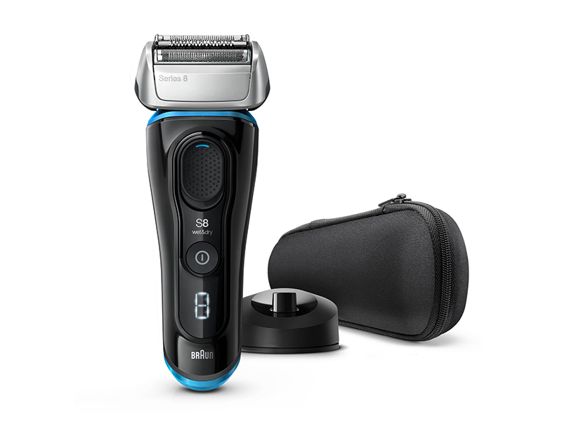Series 8 8345s Wet & Dry shaver with charging stand and travel case