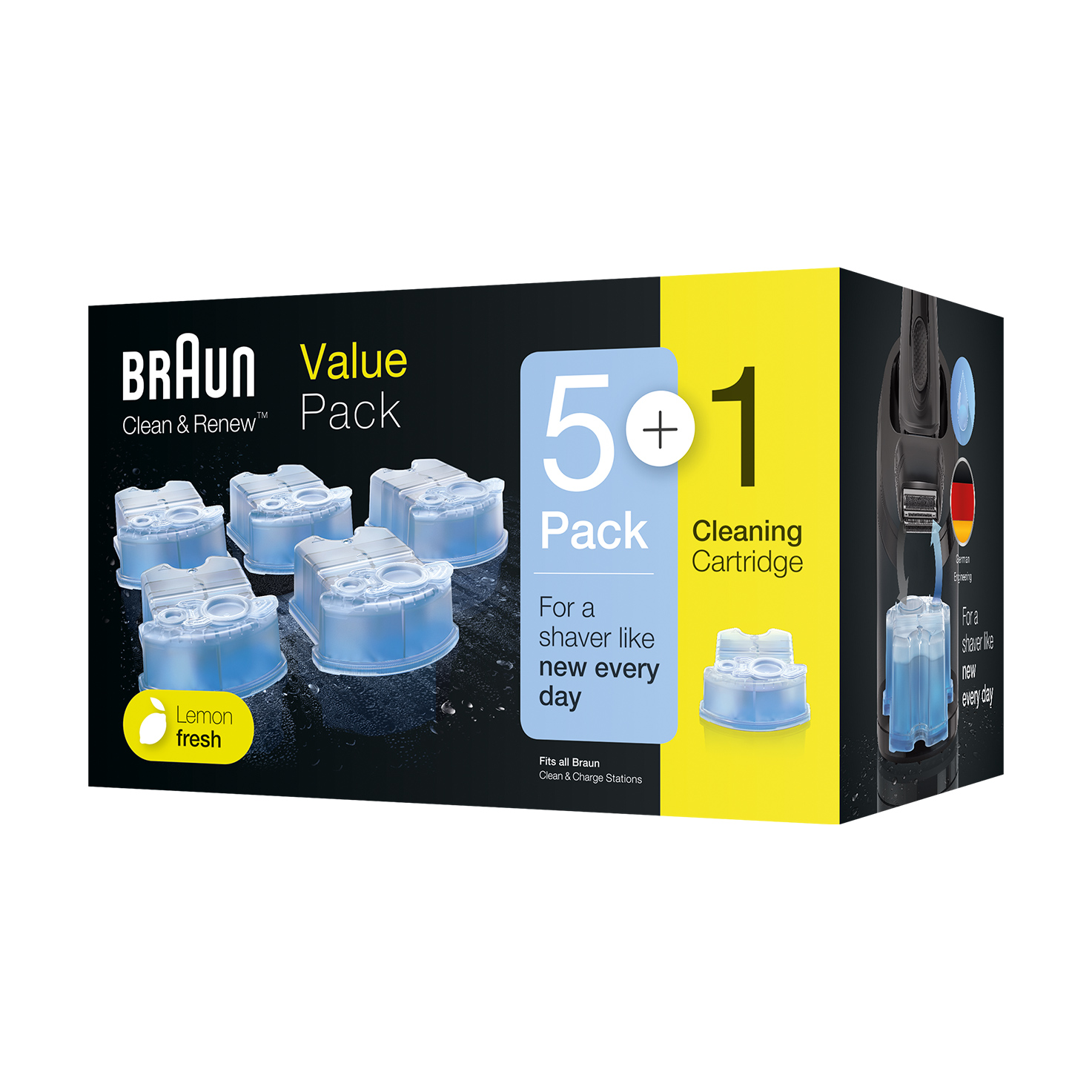 Braun Clean & Renew refill cartridges  CCR - 5+1 Pack