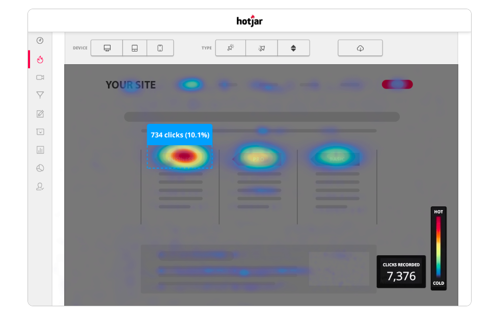 website heatmapping