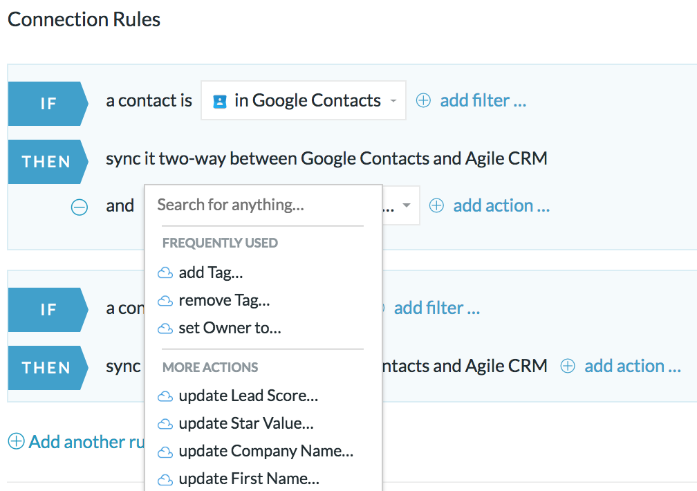 Intelligent Syncing Agile CRM